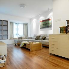 精美74平方二居客厅现代装修实景图片欣赏