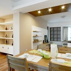 面积76平现代二居餐厅装修实景图