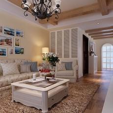 热门78平米二居客厅田园装修图片大全