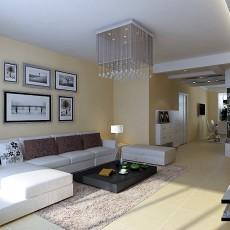 精选104平客厅三居现代装修实景图