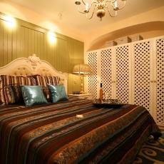 热门面积72平欧式二居卧室装修实景图