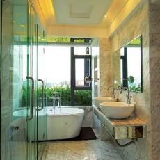 热门面积92平现代三居卫生间装修效果图片欣赏