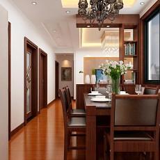 热门面积104平中式三居餐厅装修图片