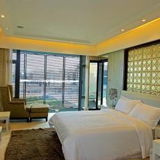 精美面积101平现代三居卧室装修欣赏图片大全