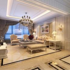 精选86平米二居客厅欧式装修欣赏图片