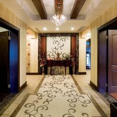 热门面积143平别墅玄关美式装修设计效果图片欣赏