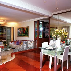 精选面积92平现代三居餐厅欣赏图片