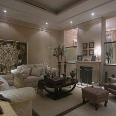 2018大小99平欧式三居客厅装修设计效果图片大全