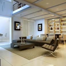 精美现代复式客厅效果图片