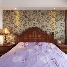 201898平米三居卧室美式效果图
