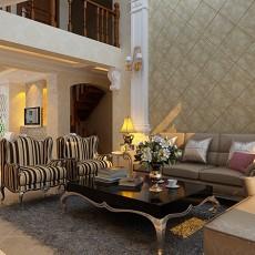 2018面积118平复式客厅欧式装修欣赏图