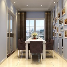 精选面积96平现代三居餐厅装修欣赏图片大全