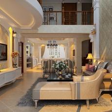 精美复式客厅欧式装修欣赏图片大全