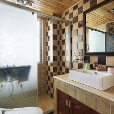 面积102平美式三居卫生间装修设计效果图片欣赏