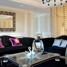 面积103平欧式三居客厅装修设计效果图