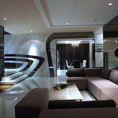 精选大小108平现代三居客厅装修效果图片大全