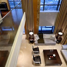 2018精选面积113平复式客厅现代效果图