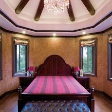 热门140平米中式别墅卧室欣赏图片大全