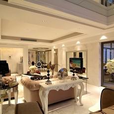 精美欧式二居客厅装修实景图片