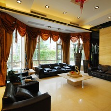 热门大小102平美式三居客厅效果图片欣赏
