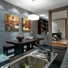 热门面积96平现代三居厨房装修效果图