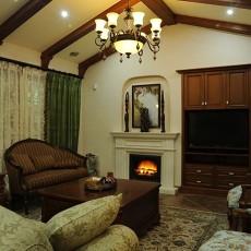 精选面积140平别墅客厅美式实景图片大全