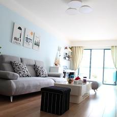 热门83平米二居客厅简约装修效果图片大全