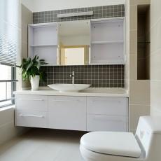 面积106平现代三居卫生间欣赏图片