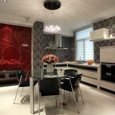 精美90平米三居厨房现代欣赏图