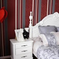 2018精选面积107平欧式三居卧室装修图