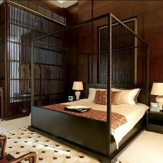 109平米三居卧室中式实景图片欣赏