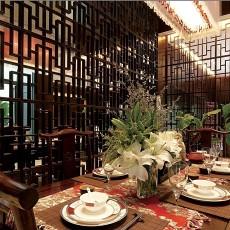热门92平米三居餐厅中式装修欣赏图片大全