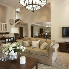 精美面积124平别墅客厅欧式效果图片大全