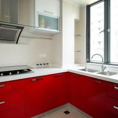 精选93平米三居厨房简约装饰图片