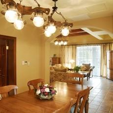精美114平米美式别墅餐厅装饰图片欣赏