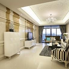 精美72平米二居客厅欧式效果图片