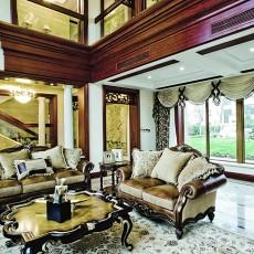热门137平米美式别墅休闲区装修图