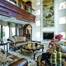 热门别墅客厅美式装修设计效果图