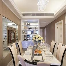 2018精选面积78平欧式二居餐厅装修欣赏图