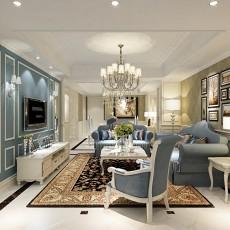 2018一居客厅欧式装修设计效果图片大全