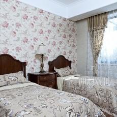 精美124平米欧式别墅卧室实景图片
