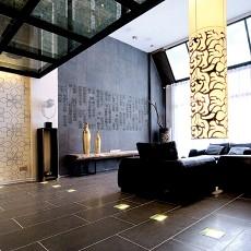 111平米现代复式客厅装修实景图