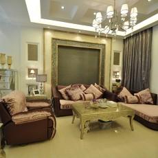 热门82平米二居客厅欧式装修效果图片欣赏