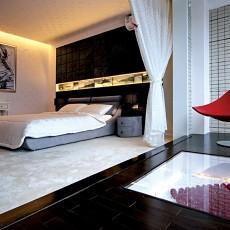 面积130平复式卧室现代装饰图
