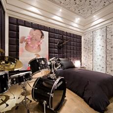 精美面积100平现代三居卧室效果图片