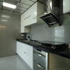 89平米二居厨房现代装修设计效果图片欣赏