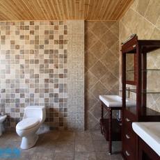 精选141平米美式别墅卫生间装修实景图片欣赏
