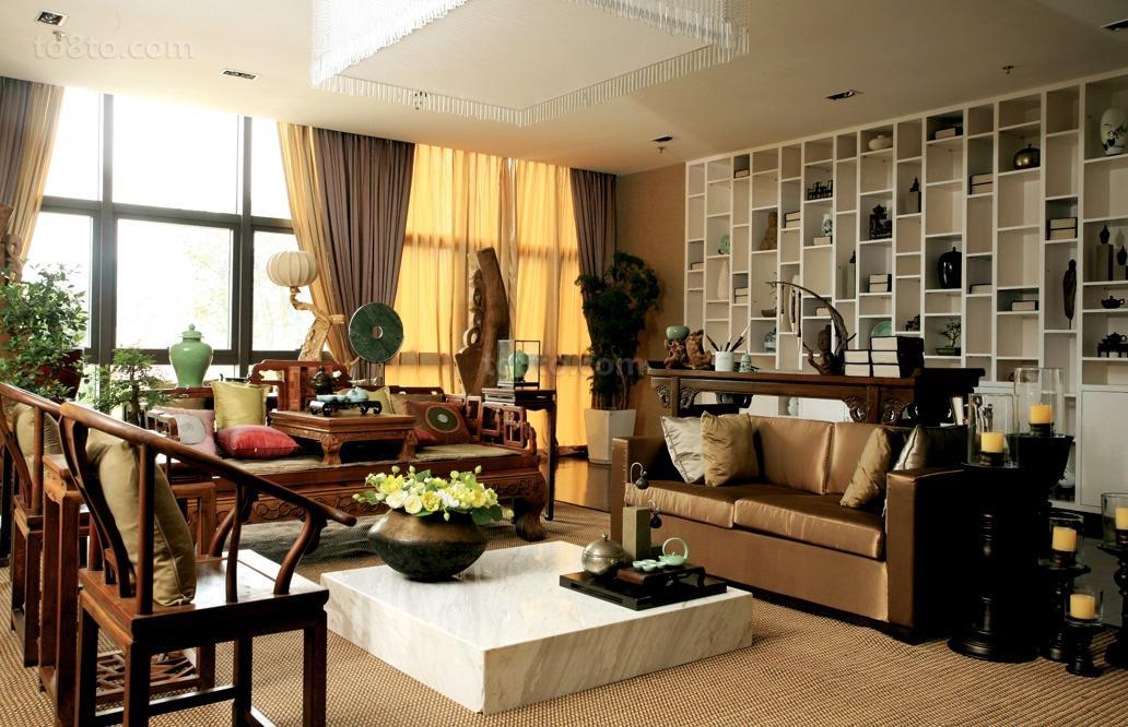 新中式客厅实景图