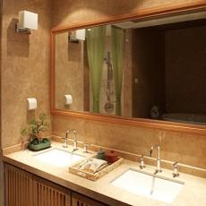 热门110平米中式别墅卫生间效果图片