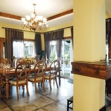 热门137平米美式别墅餐厅欣赏图片